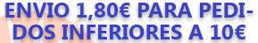 Pedidos inferiores a 10€