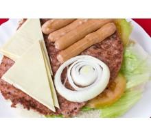 HAMBURGUESA  PERRITA. Carne, Doble de Queso y Salchichas.