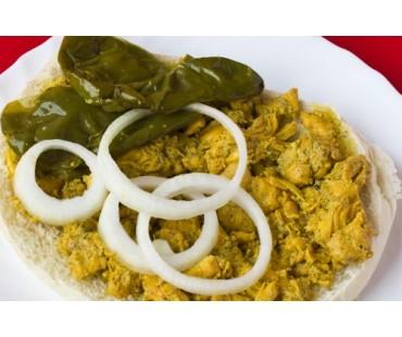 SALSERO DE POLLO. Pollo en Salsa, Pimientos Verdes y Cebolla.